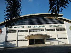 San Sebastian College–Recoletos de Cavite - Cavite City Campus beside Samonte Park