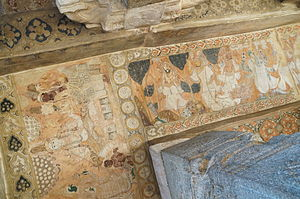 Veerabhadra Temple, Lepakshi - A painting in the ceiling