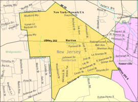Census Bureau map of Raritan, New Jersey.png