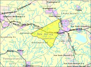 Union Township, Hunterdon County, New Jersey - Image: Census Bureau map of Union Township, Hunterdon County, New Jersey