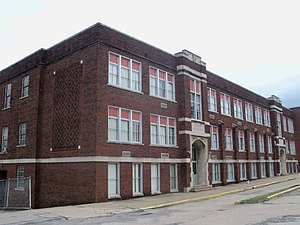 National Register of Historic Places listings in Jefferson County, Ohio - Image: Central High School (Mingo Junction, Ohio) 2012 07 13