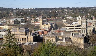 Bendigo - View of central Bendigo from Camp Hill