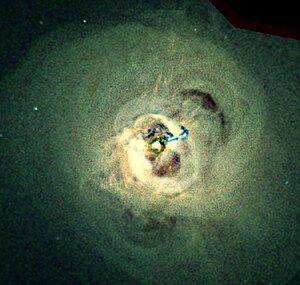 Perseus Cluster - Image: Central regions Perseus galaxy cluster