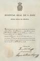 Certificado de matrícula na Escola Régia de Cirurgia, Hospital de S. José (1825).png