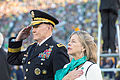 Chairman of the Joint Chiefs of Staff U.S. Army Gen. Martin E. Dempsey, left, and his wife, Deanie, render honors Sept 140906-D-KC128-080.jpg