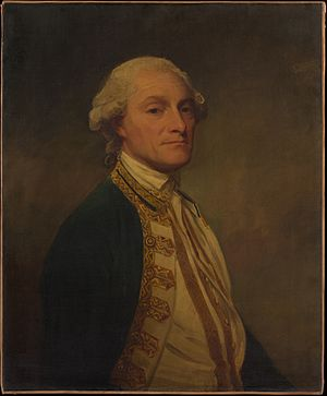 Sir Chaloner Ogle, 1st Baronet - Chaloner Ogle, portrait by George Romney