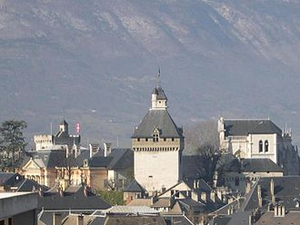 Rhône-Alpes - Castle and rooftops in the old section of Chambéry