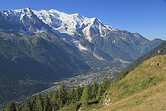 Chamonix - The Chamonix valley seen from la Flégère