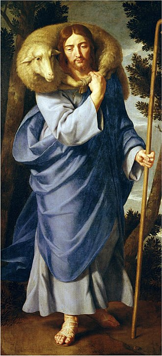 Parable of the Lost Sheep - Depiction of the Good Shepherd by Jean-Baptiste de Champaigne showing the influence of this parable.