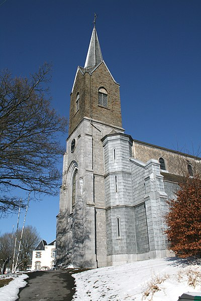 Champlon (Tenneville) (Belgium), the Saint Remacle church (1873-1874).