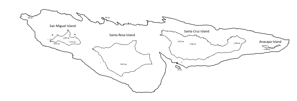 Land Channel Map Channel Islands (California)   Wikipedia