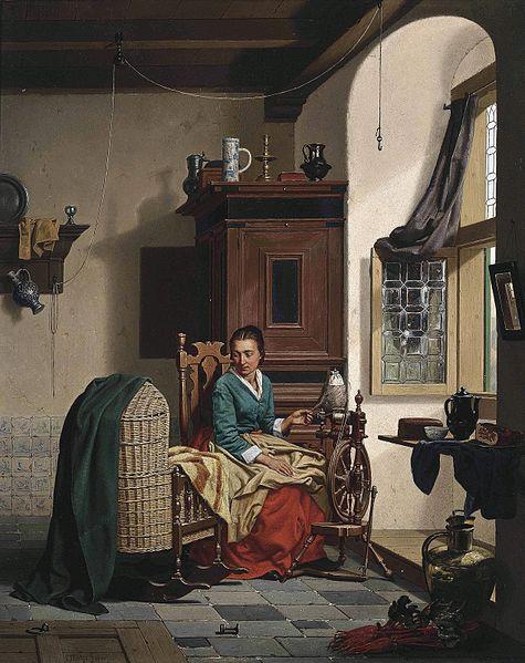 File:Charles Joseph Grips - The Spinner's Favorite, 1866.jpg
