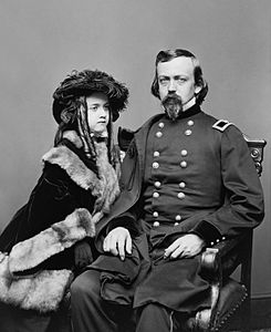 Massachusetts native and Civil War General Charles Pomeroy Stone, with his daughter