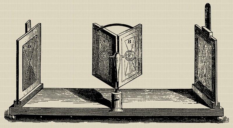 Charles Wheatstone-mirror stereoscope XIXc