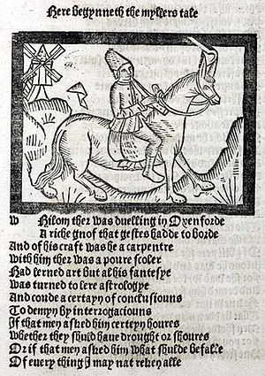 Middle English - A page from Geoffrey Chaucer's The Canterbury Tales