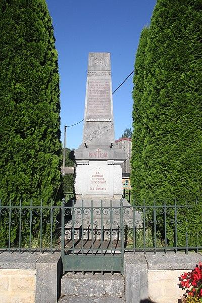 Monument aux morts de Chaux-les-Passavant (Doubs).