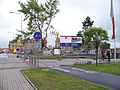 Cheb, náměstí Dr. Milady Horákové, výstavba autobusového terminálu.jpg
