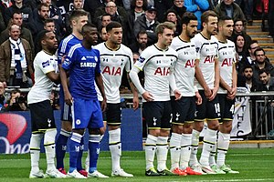 Chelsea F.C.–Tottenham Hotspur F.C. rivalry - Chelsea and Tottenham Hotspur contesting the 2015 Football League Cup Final.