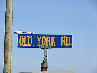 Old York Road - Sign for Old York Road in Cheltenham Township, Pennsylvania