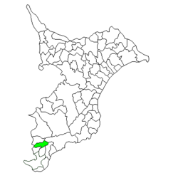 Location of Tomiyama in Chiba Prefecture