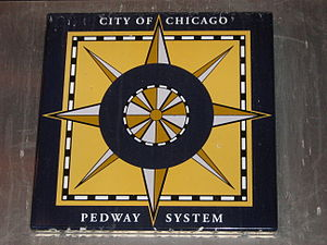 Chicago Pedway - Sign of the Chicago Pedway.