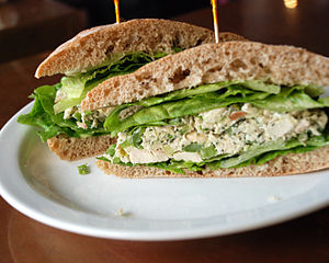 Chicken sandwich - A chicken salad sandwich