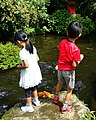 Children at pond - Hakone-jinja - Hakone, Japan - DSC05849.jpg