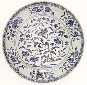 Chinese dish, Ming dynasty, Yung-lo period (14...
