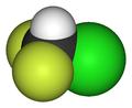 Chlorodifluoromethane-3D-vdW.png