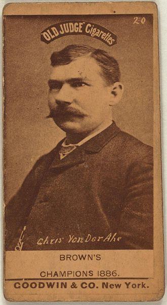 Chris von der Ahe - von der Ahe, from a baseball card, 1887