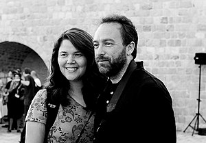Christine and Jimmy Wales