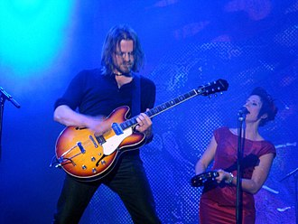 Roxette - Christoffer Lundquist (guitarist) and Malin Ekstrand (backing vocals), who accompanied Roxette during the 2010 European tour