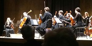 """Christophe Coin - Coin and Les Violons du Roy, at the """"Claire and Marc Bourgie Pavilion"""" of the Montreal Museum of Fine Arts in 2016"""