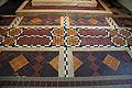 Church of St Christopher, Willingale, Essex, England - interior chancel sanctuary tiled floor.JPG