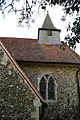 Church of St Michael, Leaden Roding, Essex, England - spire and nave from north.jpg