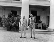 Churchill and Anthony Eden at Quebec Conference