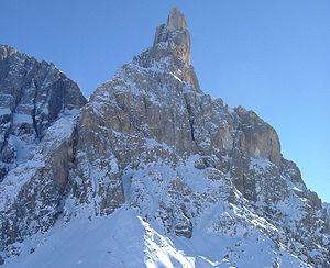 Cimon della Pala - Cimon della Pala, seen from the Rolle Pass
