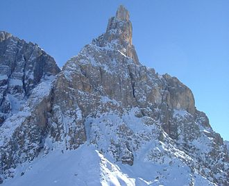 Cimon della Pala - Cimon della Pala, seen from the Rolle Pass