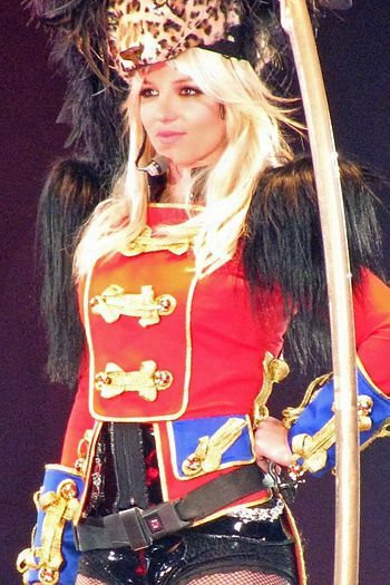 Britney Spears performing during The Circus Starring Britney Spears