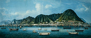 Victoria Harbour - Victoria Harbour and Hong Kong Island in the 1860s