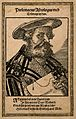 Claudius Ptolemaeus (Ptolemy). Woodcut by T. Stimmer, 1587. Wellcome V0004805.jpg