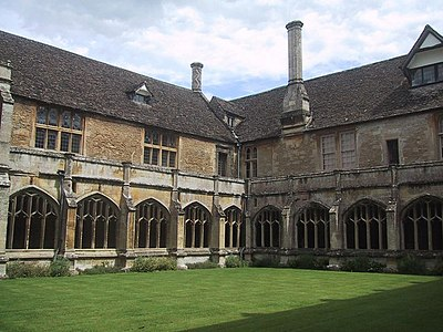 Lacock Abbey in Wiltshire, Augustinian nunnery converted into an aristocratic mansion and country estate Cloisters at Laycock Abbey - geograph.org.uk - 1427064.jpg