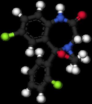 Cloxazolam - Image: Cloxazolam 3d model