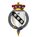 Coat of arms of Sir George Carey, 2nd Baron Hunsdon, KG.png