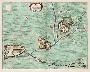 Siege of Coevorden (1592) - Siege of Coevorden in 1592 from the Atlas van Loon