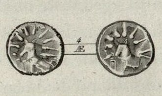 Kea (island) - Coin from ancient Kea; with a dog and a star