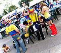 Colombian supporters - Kirin Cup Soccer 2002.jpg