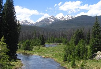 Course of the Colorado River - Near the source of the Colorado River in Rocky Mountain National Park, Colorado