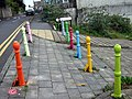 Colourful bollards - geograph.org.uk - 1619097.jpg
