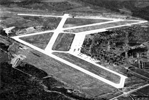 Columbus Air Force Base - Early 1942 airphoto of Kaye Field, later Columbus Army Airfield